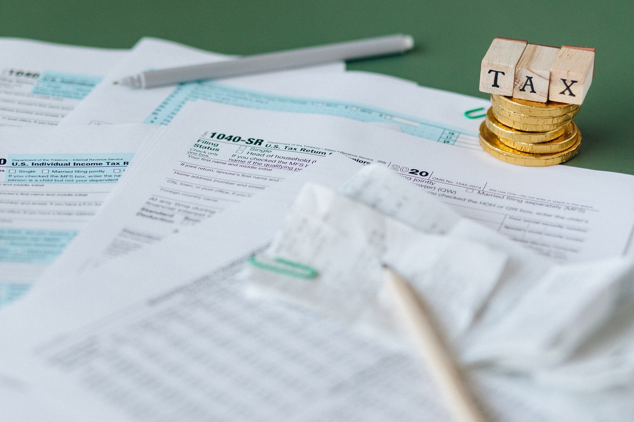 tax documents on a desk